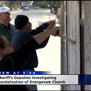 Search On For Vandals Who Targeted Orangevale Church