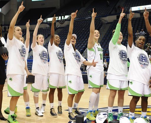 Late lay-in lifts ND over UConn in Big East final