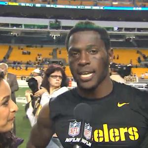 Pittsburgh Steelers wide receiver Antonio Brown: 'This is something we can build upon'