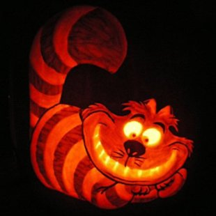 Cheshire Cat Pumpkin Stencils http://shine.yahoo.com/parenting/10-pumpkin-carvings-kids-8217-cartoon-favorites-200600339.html
