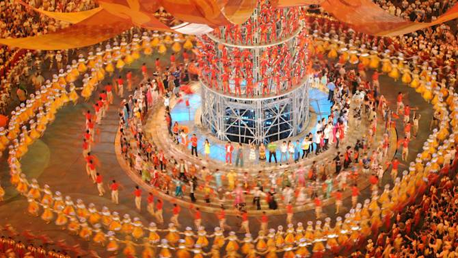 File photo of dancers performing at the closing ceremony for the 2008 Beijing Olympic Games. Match-fixer Wilson Raj Perumal claims to have fixed football games at the event