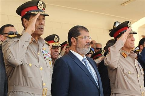Egypt's president asserts authority over army