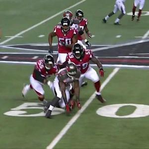Tampa Bay Buccaneers running back Bobby Rainey fumbles again