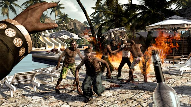 """In this video game image released by Deep Silver, zombies take over a tropical resort in a scene from """"Dead Island."""" (AP Photo/Deep Silver)"""