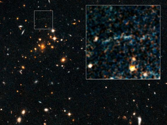 Warped Light Reveals Most Massive Distant Galaxy Cluster