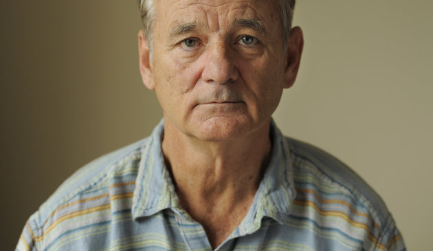 "Bill Murray, a cast member in the film ""Hyde Park on Hudson,"" poses for a portrait at the 2012 Toronto Film Festival, Sunday, Sept. 9, 2012, in Toronto. (Photo by Chris Pizzello/Invision/AP)"