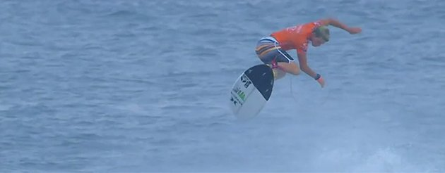Surfer pulls off trick hailed as the greatest in sport's history