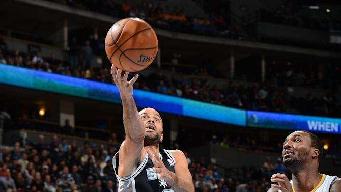 Parker leads Spurs past Nuggets, 102-94