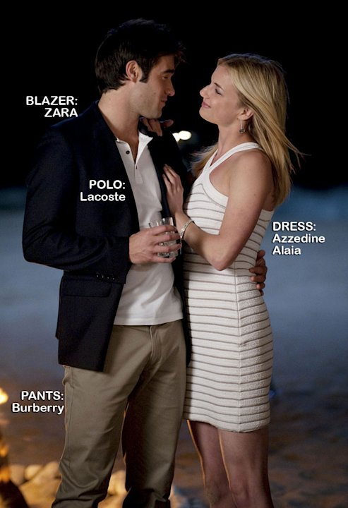"Josh Bowman as Daniel Grayson and Emily VanCamp as Emily Thorne in the Season 1 episode ""Duress."" Revenge"