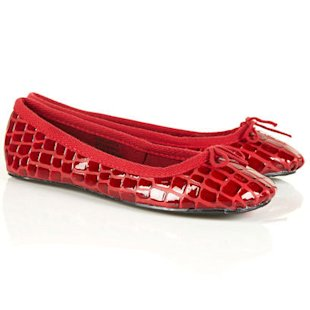 Vampire Croc Ballet Pumps Topshop: What To Wear: School Run