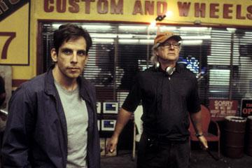 Ben Stiller and Director Barry Levinson on the set of Dreamworks' Envy