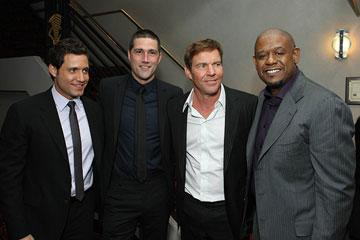 Edgar Ramirez , Matthew Fox , Dennis Quaid and Forest Whitaker at the New York City premiere of Columbia Pictures' Vantage Point