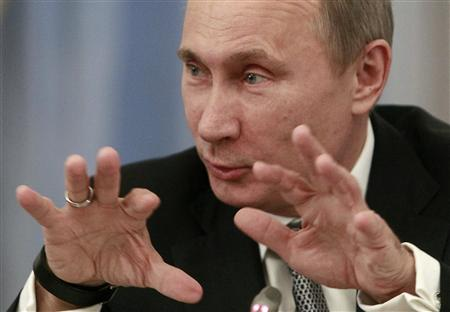 Russia's President Vladimir Putin speaks during a meeting of the Valdai international discussion group of experts at the Novo-Ogaryovo residence outside Moscow October 25, 2012. REUTERS/Sergei Karpukhin