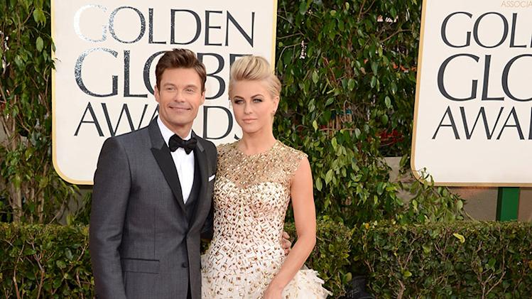 70th Annual Golden Globe Awards - Arrivals: Ryan Seacrest and Julianne Hough