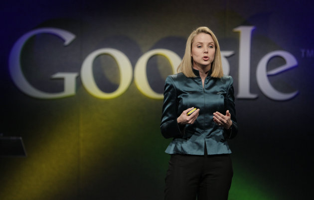 FILE- In this Monday, Dec. 7, 2009, file photo, Marissa Mayer, VP of Search Products and User Experience for Google, speaks in Mountain View, Calif. Yahoo announced Monday, July 16, 2012, it is hiring Mayer to be its next CEO, the fifth in five years as the company struggles to rebound from years of financial malaise and internal turmoil. Mayer, who starts at Yahoo Inc. on Tuesday, July 17, 2012, was one of Googles earliest employees and was most recently responsible for its mapping, local and location services. (AP Photo/Marcio Jose Sanchez, File)