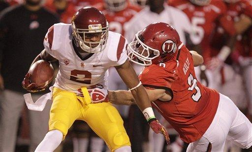 Barkley rallies No. 13 USC past Utah 38-28