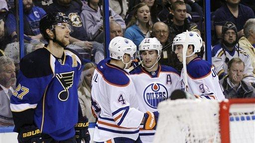 Khabibulin, Oilers blank Blues 3-0