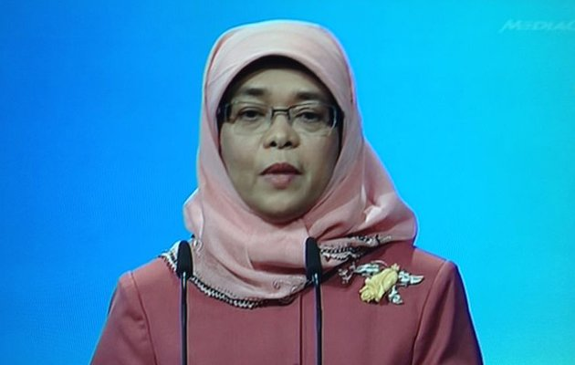 Minister of State for Community Development, Youth and Sports Halimah Yacob (Screengrab)