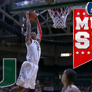 Miami's Rion Brown Throws Down Two-Handed Slam On Fast Break | ACC Must See Moment