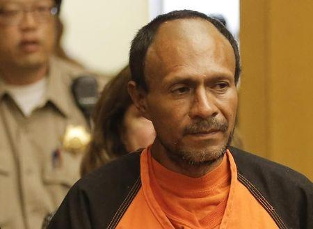 Juan Francisco Lopez-Sanchez is led into the Hall of Justice for his arraignment in San Francisco