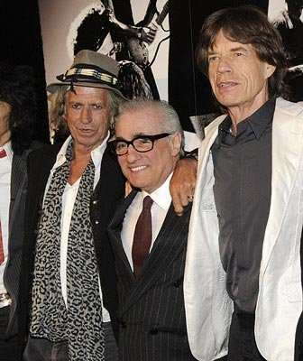 Keith Richards , director Martin Scorsese and  Mick Jagger at the New York City premiere of Paramount Classics' Shine a Light – 03/30/2008 Photo: Kevin Mazur, WireImage.com