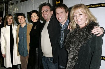 Lisa Kudrow, Jason Ritter, Maggie Gyllenhaal, Tom Arnold, writer/director Don Roos and Kim Morgan Greene Happy Endings Premiere - 1/20/2005 Sundance Film Festival