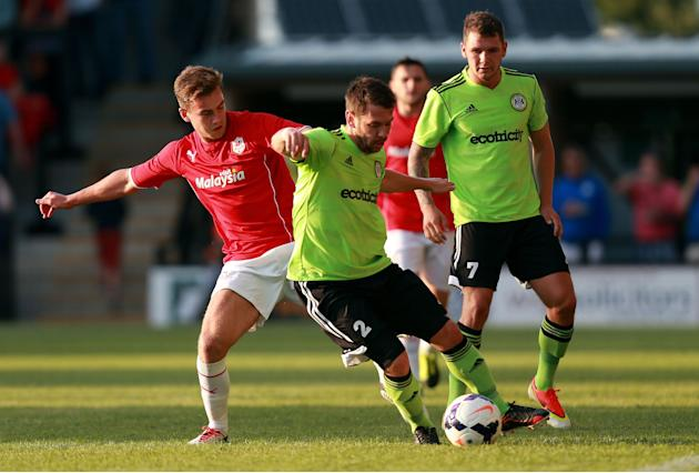 Soccer - Pre-Season Friendly - Forest Green Rovers v Cardff City - The New Lawn