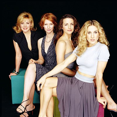 Kim Cattrall, Cynthia Nixon, Kristin Davis and Sarah Jessica Parker in Sex and the City 