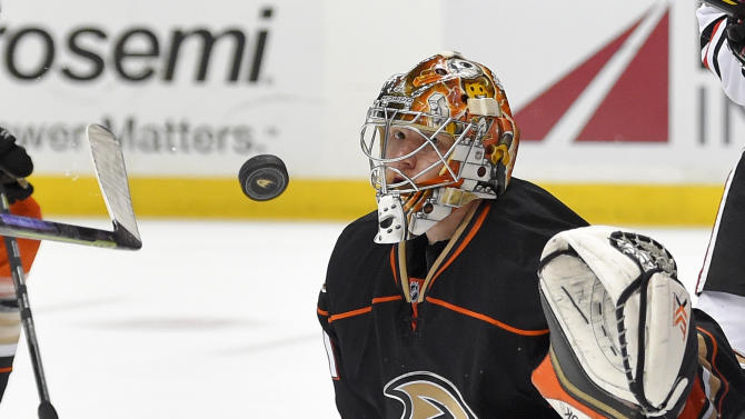Ducks say Freddie Andersen 'good and steady' this playoff