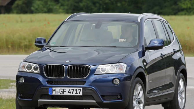 This August 2011 image made available by BMW shows the 2012 BMW X3 compact crossover sport utility vehicle. (AP Photo/BMW)