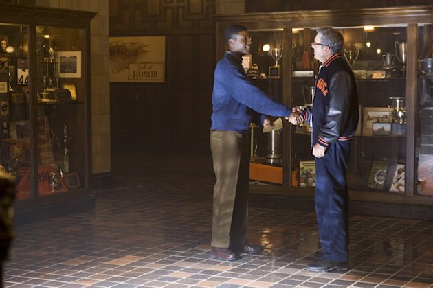 Rob Brown Dennis Quaid The Express Production Stills Universal 2008