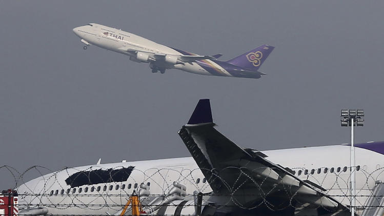 Thai Airways skids off runway; 14 passengers hurt