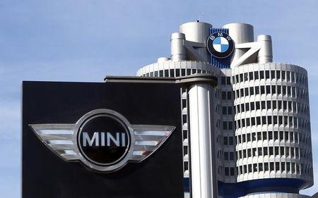 The logo of German luxury car maker BMW-Mini is pictured in Munich