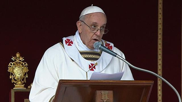 Pope Francis leads inaugural mass at Vatican