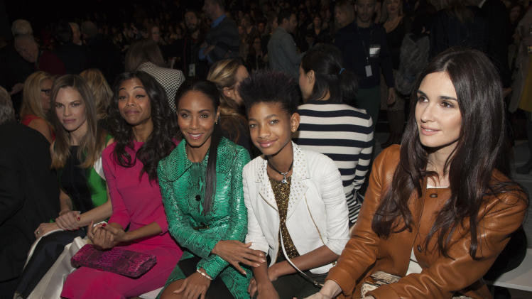 Hilary Swank, Zoe Saldana, Jada Pinkett Smith, Willow Smith and Paz Vega attend the Michael Kors Autumn/Winter 2013 collection during New York Fashion Week