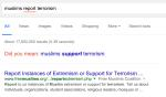 "Why Google search suggests ""Muslims support terrorism"""