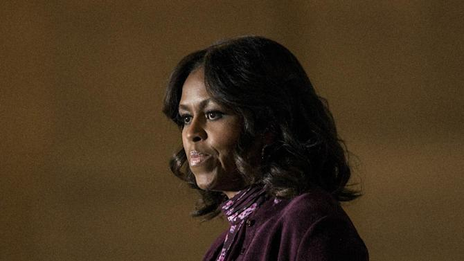 US first lady Michelle Obama speaks on November 3, 2014 in Baltimore, Maryland