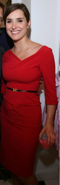 Bloomberg Anchor/Reporter Margaret Brennan in a red dress