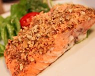 Mustard-Baked Salmon with Pumpkin Seed Crust