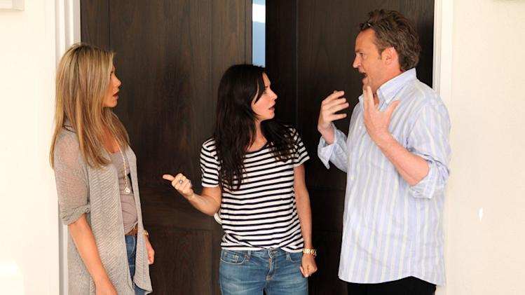 """The Ellen DeGeneres Show"" - Jennifer Aniston, Courteney Cox and Matthew Perry"