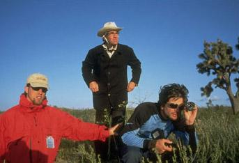 Director Tod Williams and his crew on the set of The Adventures of Sebastian Cole