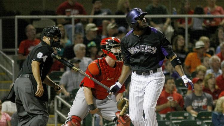 MLB: Spring Training-Cincinnati Reds at Colorado Rockies