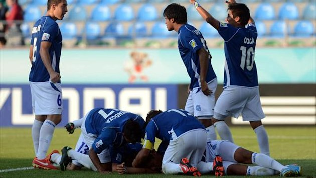 El Salvador celebrate a first ever tournament win