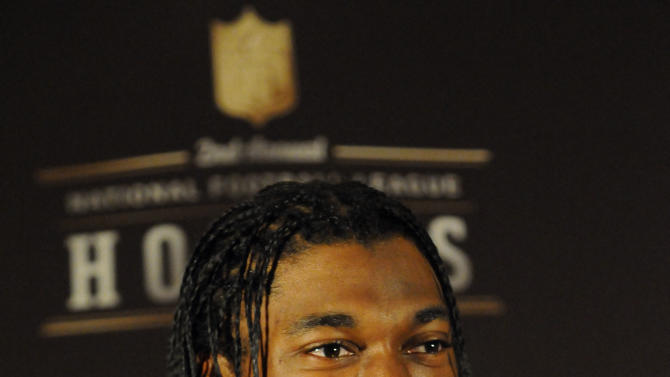 Rookie of the Year Washington Redskins quarterback Robert Griffin III is seen at the NFL Honors on Saturday, Feb. 2, 2013 in New Orleans. (Photo by Cheryl Gerber/Invision/AP Images)