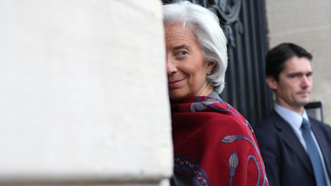 FILE - In this, Friday, May 24, 2013, file photo, International Monetary Fund chief Christine Lagarde arrives at a special court house, in Paris. The IMF is reiterating its confidence in Lagarde's leadership Tuesday, May 28, 2013, after a French court stopped just short of charging her in an investigation of a payoff to a businessman. (AP Photo/Thibault Camus, File)
