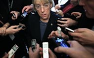 <p>Senator Patty Murray speaks to the press on Capitol Hill, on February 14, 2013. Democrats fell one vote short of overcoming the procedural delay and clearing the way for final consideration of Chuck Hagel.</p>