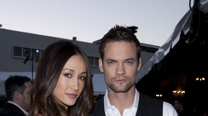 """Nikita's"" Maggie Q and Shane West at the TCA Summer 2010 CBS/The CW/Showtime ""Star Party in the Tent"" on July 28, 2010 in Beverly Hills, California."