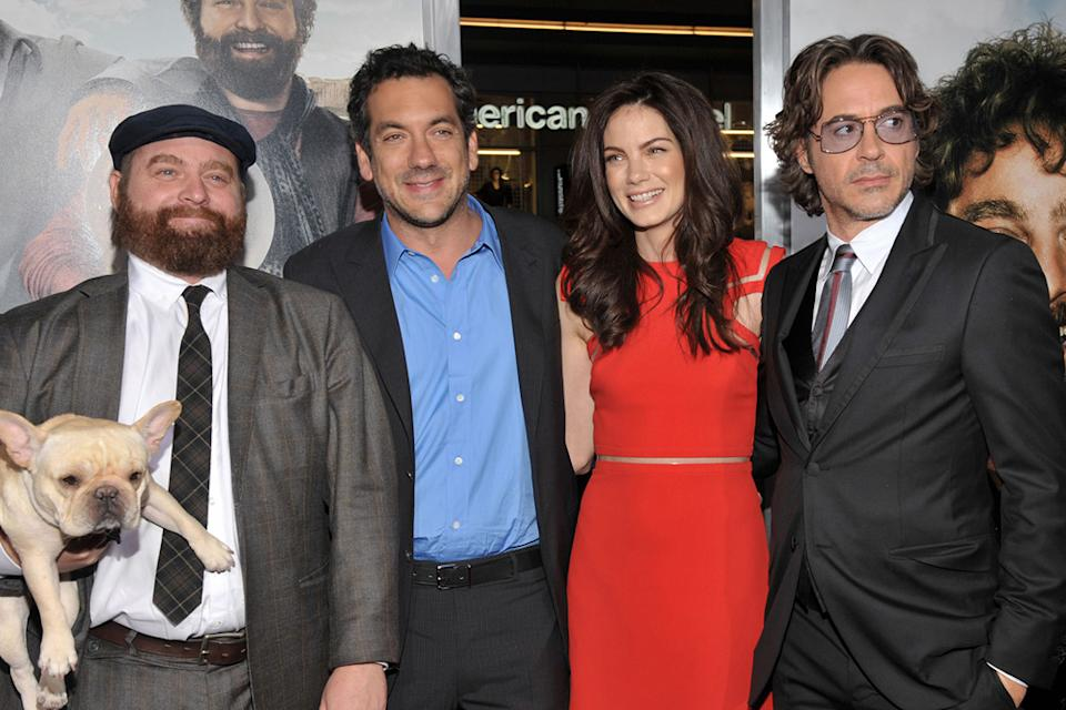Due Date LA Premiere 2010 Zach Galifianakis Todd Phillips Michelle Monaghan Robert Downey Jr.