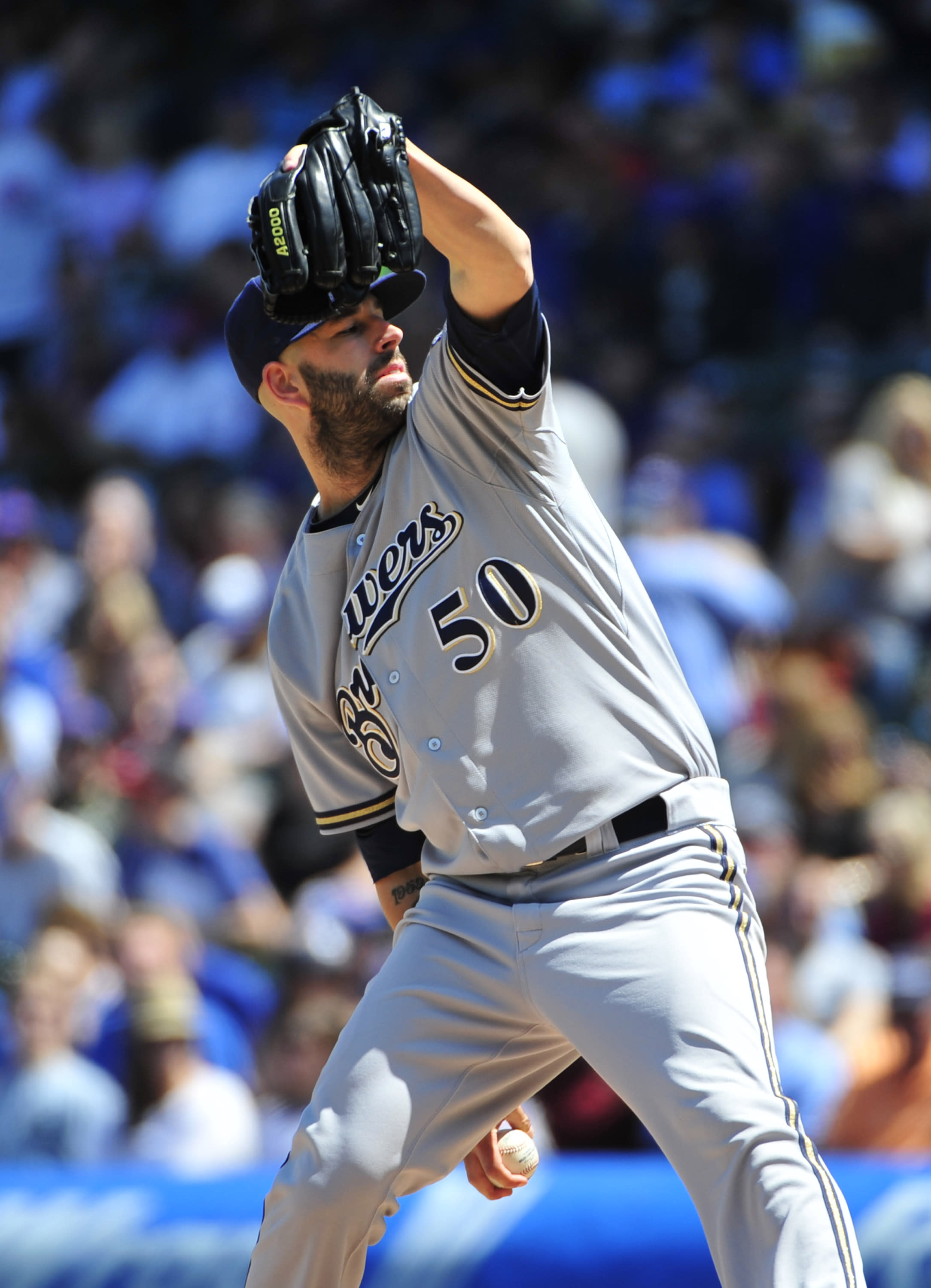 Fiers strikes out 12, Braun homers as Brewers beat Cubs