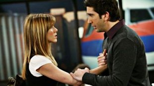 Rachel and Ross from Friends